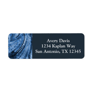 Blue Geometric Abstract Triangles and Circles Return Address Label
