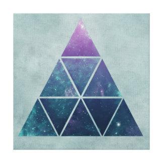 Blue Geometric Astronomical Triangle Canvas Print