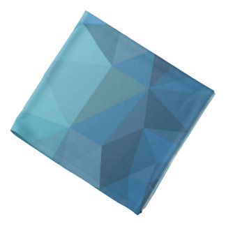 Blue geometric bandana