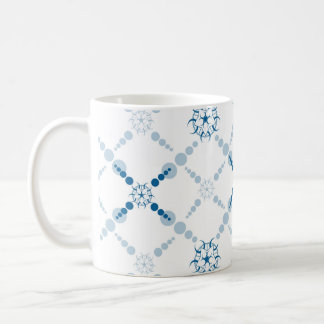Blue Geometric Crop Circles Coffee Mug