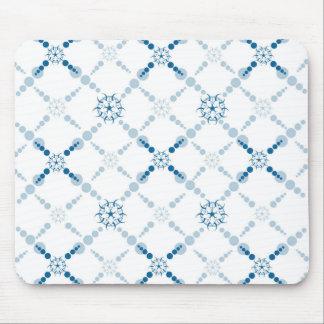 Blue Geometric Crop Circles Mouse Pad