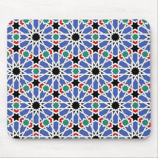Blue Geometric Design Mousepad