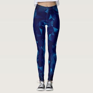 Blue Geometric Leggings