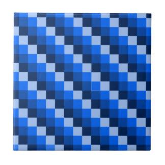 Blue Geometric Mosaic Pattern Tile