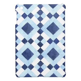Blue Geometric Pattern Case For The iPad Mini