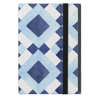Blue Geometric Pattern iPad Mini Case