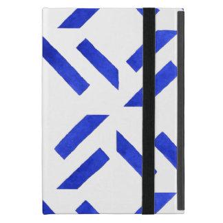 Blue Geometric Pattern iPad Mini Cover