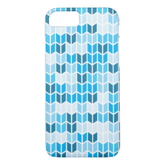 Blue Geometric Pattern iPhone 7 Case