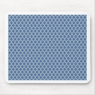 Blue Geometric Pattern Mouse Pad