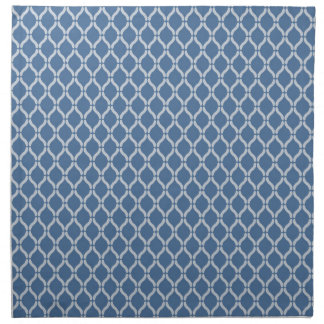 Blue Geometric Pattern Napkin