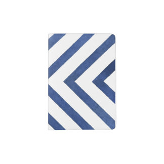 Blue Geometric Pattern Passport Holder