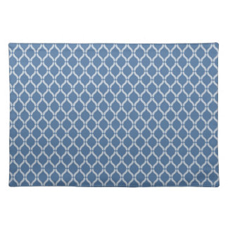 Blue Geometric Pattern Placemat
