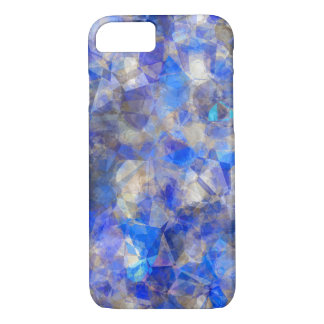 Blue Geometric Pattern Simulated Glass iPhone 8/7 Case