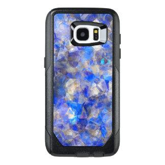 Blue Geometric Pattern Simulated Glass OtterBox Samsung Galaxy S7 Edge Case
