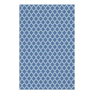 Blue Geometric Pattern Stationery