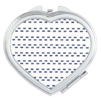 Blue Geometric Pattern Vanity Mirrors