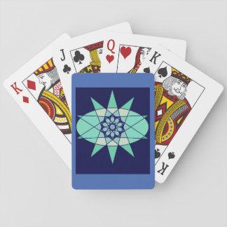 Blue Geometric Star Design Cards