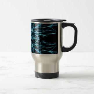 blue geometric travel mug