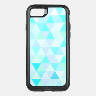 Blue Geometric Triangles OtterBox Commuter iPhone 7 Case