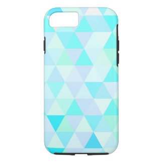 Blue Geometric Triangles tough iPhone 7 Case