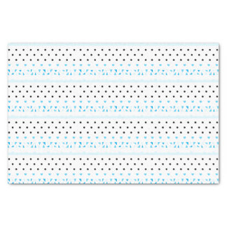 Blue Geometrics Tissue Paper
