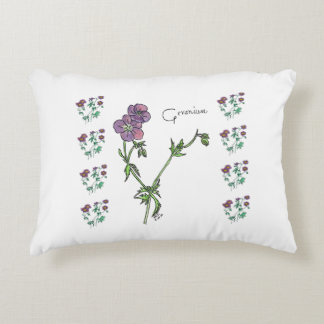 Blue Geranium Decorative Pillow
