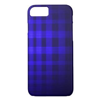 Blue ghost Tartan Pattern iPhone 7 Case