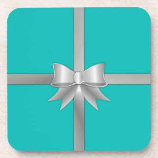 Blue Gift Box Coaster