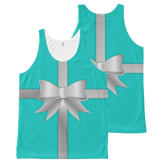 Blue Gift Box Tank Top