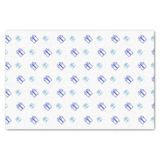 Blue Gift Pattern Tissue Paper