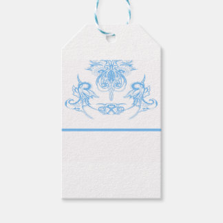 blue gift tags