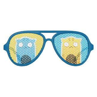 Blue Ginger Cat Adult Retro Party Shades