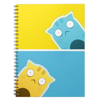 Blue Ginger Cat Notebook (80 Pages B&W)