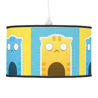 Blue Ginger Cat Pendant Lamp