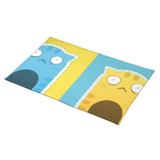 "Blue Ginger Cat Placemats  20"" x 14"""