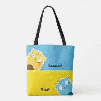Blue Ginger Cat tote bag