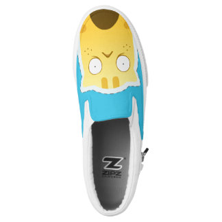 Blue Ginger Cat Zipz Slip On Shoes