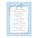 Blue Gingham Baby's Birthday and Naming Ceremony