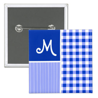 Blue Gingham; Checkered Pins