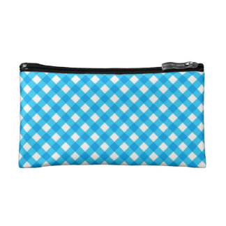Blue Gingham Cosmetics Bags