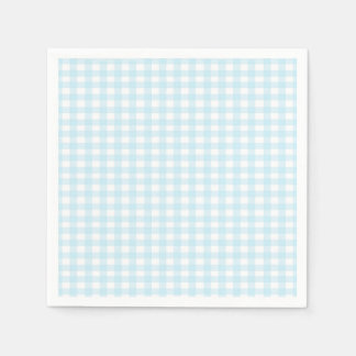 Blue Gingham Disposable Napkins