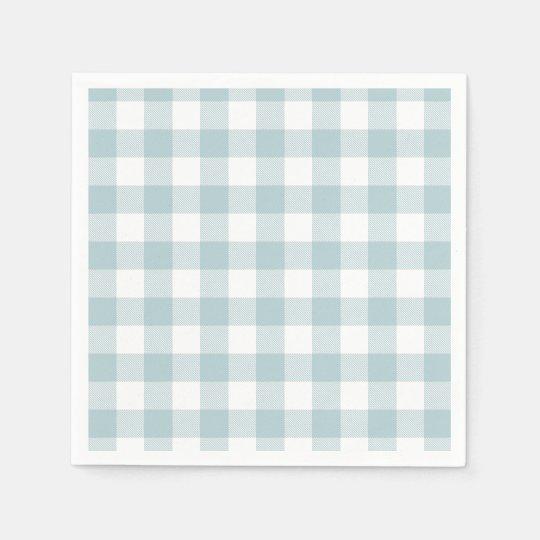 Blue Gingham For Easter Bunny Ears Paper Napkin