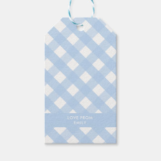 Blue Gingham Gift Tag Pack Of Gift Tags