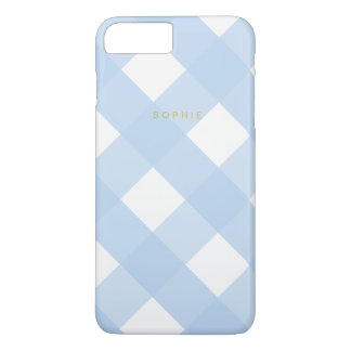 Blue Gingham iPhone 7 Plus Case