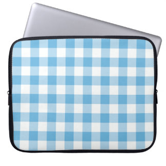 Blue Gingham Laptop Sleeve