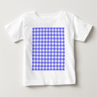 Blue Gingham Material Baby T-Shirt
