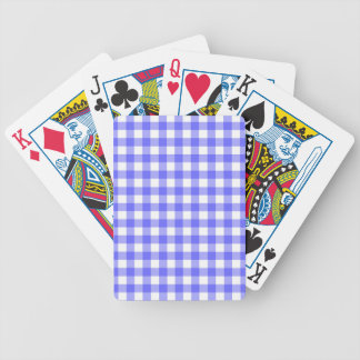Blue Gingham Material Bicycle Playing Cards