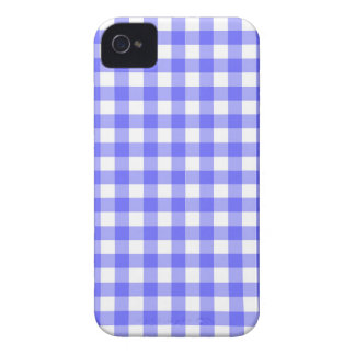 Blue Gingham Material iPhone 4 Cover