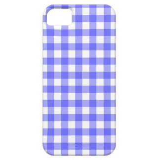 Blue Gingham Material iPhone 5 Case