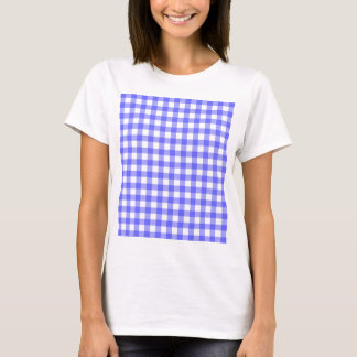 Blue Gingham Material T-Shirt